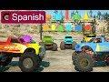Aprende Sobre Figuras 2D 3D Y Camiones Monstruo JUGUETES Learn Shapes SPANISH