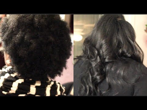 FULL Sew in on SHORT KINKY AFRO Hair | How to: Natural Looking Sew in on TWA natural hair