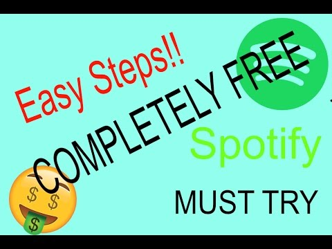 HOW TO GET FREE PREMIUM SPOTIFY ACCOUNT