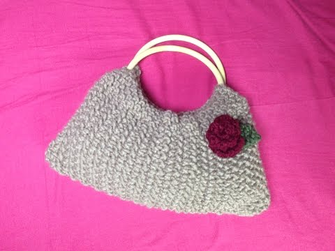 How to Loom Knit a Handle Bag (DIY Tutorial)