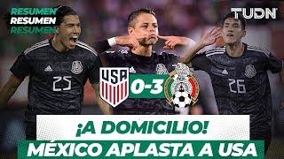 ¡Goleada a domicilio! | Resumen y Goles USA 0 - 3 México  | Partido Amistoso | TUDN