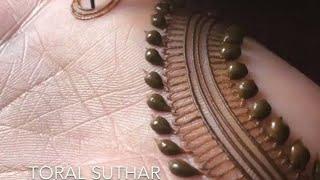 Simple and stylish mehndi for beginners | आसान सरल मेहंदी डिजाइन | Henna Mehndi Trends |