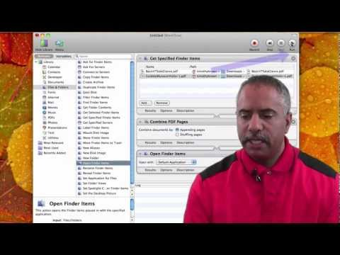 Combine PDF Documents with Automator