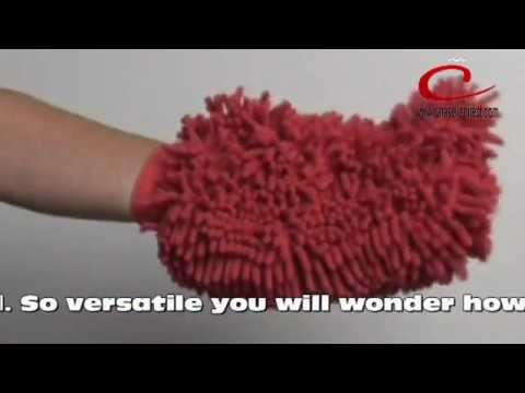 Ultra Soft Chenille Dusting Mitt Use wet or dry