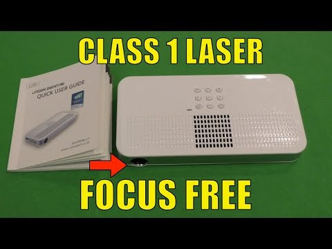 Laser Beam Pro C200 Review, Class 1 Laser and Focus Free Portable Projector
