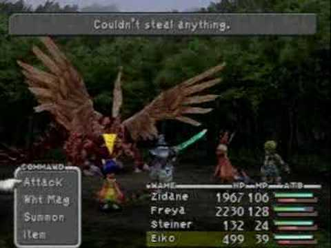 Final Fantasy IX - Excalibur II 9999 Damage at Level One