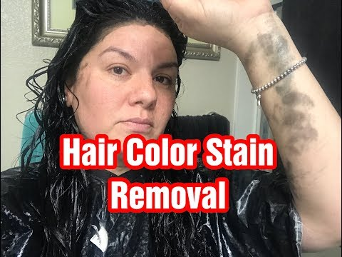 REMOVING HAIR DYE FROM SKIN