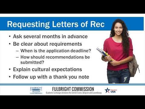 The Letter of Recommendation (EdUSA Webinar)