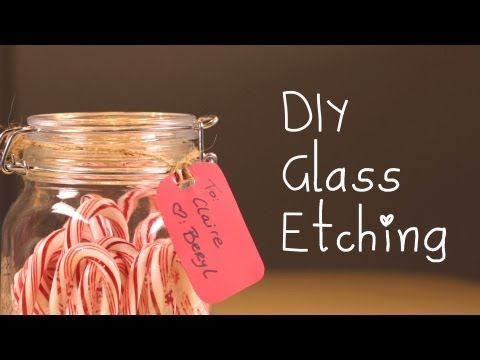 DIY: Glass Etching Holiday Ideas!