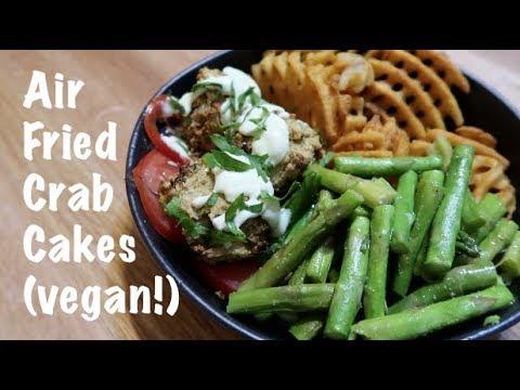 Air Fried Vegan Crab Cakes (vegan!)