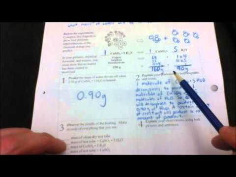 Decomposition of Copper Sulfate Pentahydrate Lab Part 2