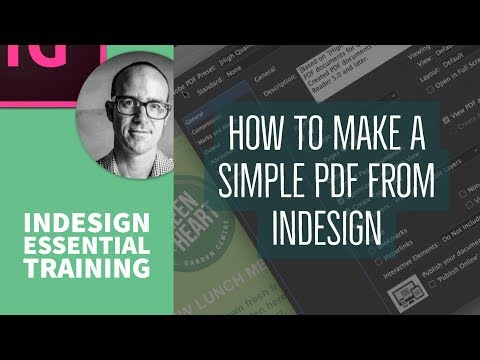 How to make a simple PDF from InDesign - InDesign Essential Training [15/76]
