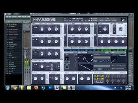HOW TO MAKE A MELLOW SKRILLEX WOBBLE IN MASSIVE