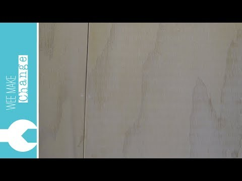 How to White Wash Plywood Walls and Ceiling