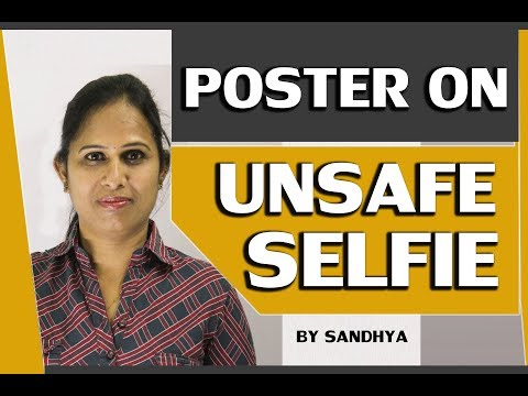 Learn English ||POSTER ON UNSAFE SELFIE|| my grammar pages