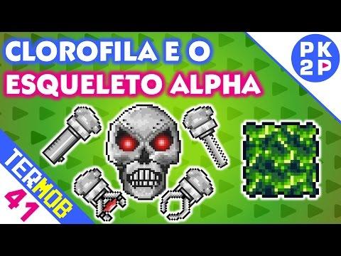 Boss Esqueleto Alpha e Plantando Clorofila • Terraria Mobile #41