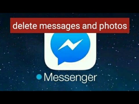 how to delete messenger photos