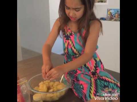 Kids Cooking Apple Custard Slice
