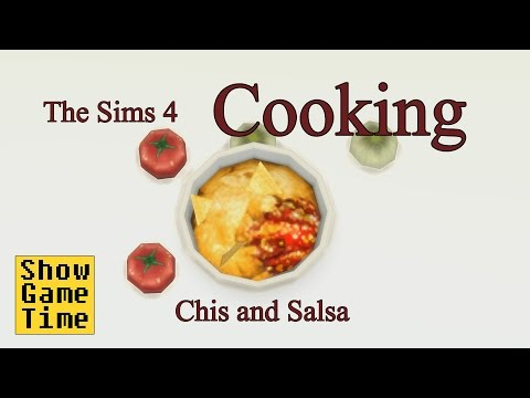 [The Sims 4] Cooking Scene - Chips and Salsa