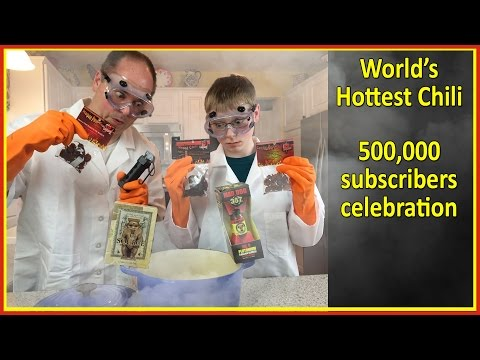 DIY World's Hottest Chili : Plutonium, Carolina Reaper, The Source, Flashbang : Crude Brothers