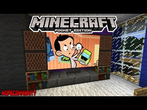 HOW TO MAKE A TV IN MCPE (Minecraft PE)