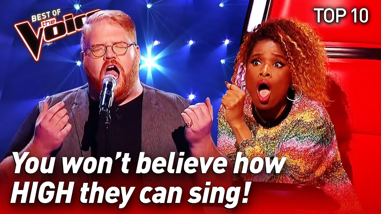 TOP 10   INCREDIBLE High Notes in The Voice #2