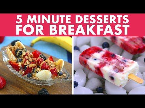 5 Minute Summer DESSERTS FOR BREAKFAST! Vegan/Vegetarian, Easy, Healthy Recipes!  - Mind Over Munch