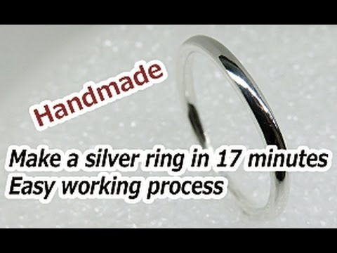 Silver ring made in 17 minutes