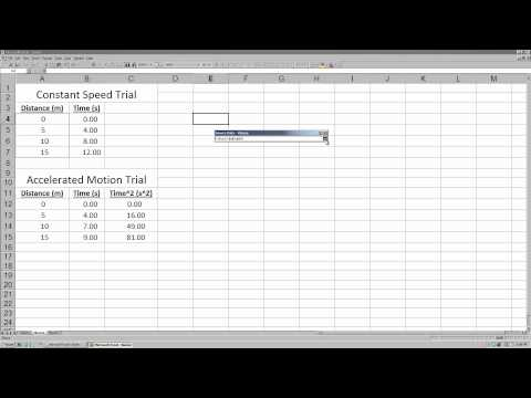 #2 Graphing Data in Microsoft Excel 2000 / 2003