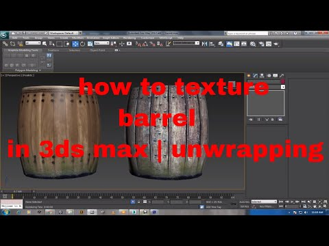how to texture barrel in 3ds max | unwrapping