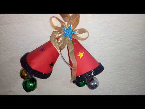 How to make Christmas bell  ==at home=very easy