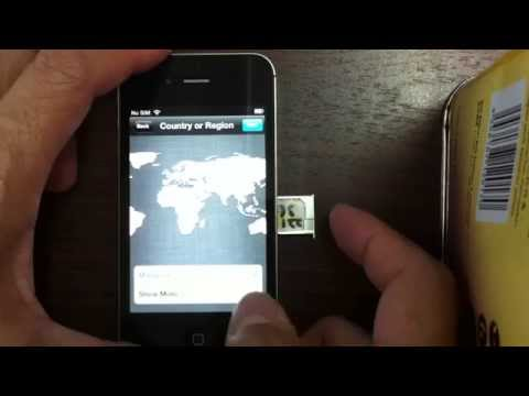activate and unlock ios 6 all in one for iphone 4s without original sim card by X-SIM