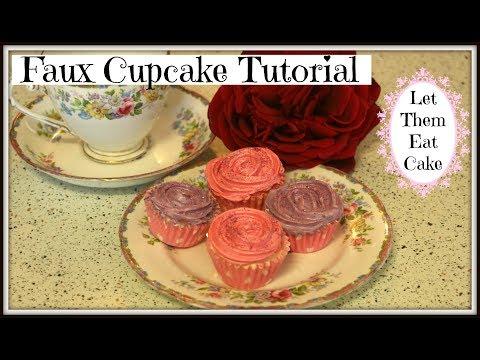 faux cupcake tutorial ❤