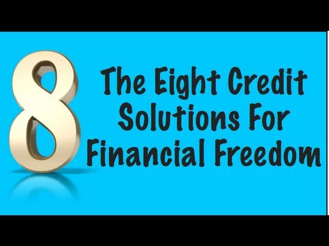 The Eight Credit Solutions To Help You With Credit Card Debt