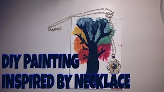 DIY painting based off necklace!