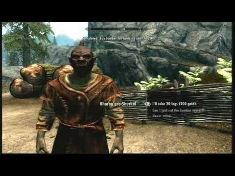 The Elder Scrolls V: Skyrim - Buy Lumber For Building Your House (with Commentary)