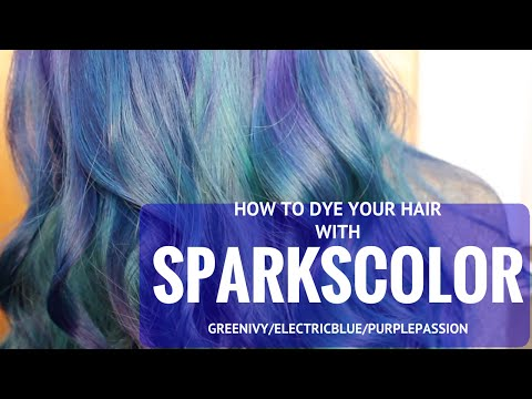 Dyeing Hair with Sparks Color