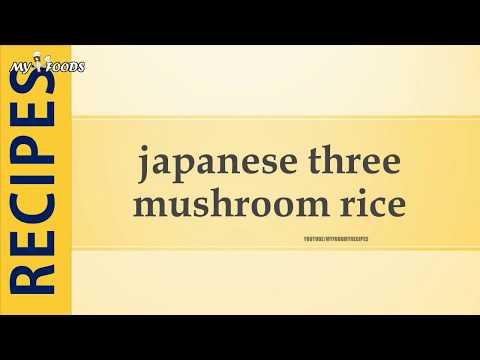 japanese three mushroom rice