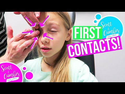 GETTING CONTACTS!! SHE CAN'T GET THEM OUT!!