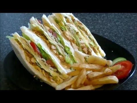 CHICKEN TIKKA CLUB SANDWICH *COOK WITH FAIZA*