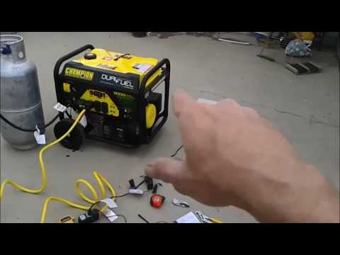 Dual Fuel Generator by Champion how to set up and test (read Below)