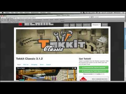How To Make A Tekkit Classic Server 3.1.2 [Mac]