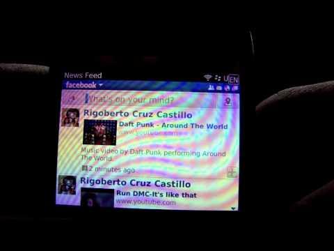 Facebook 2.0 For Blackberry (demonstration)