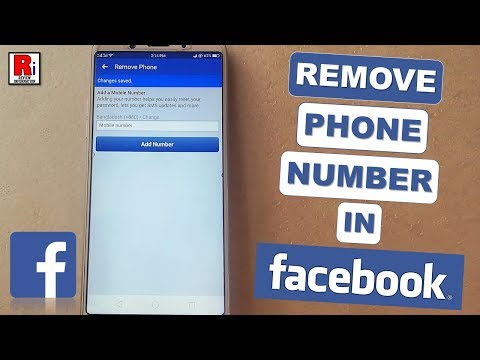 HOW TO REMOVE PHONE NUMBER IN FACEBOOK