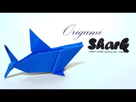 Origami Shark - How to make Shark with Paper? Baby Shark for kid. Origami Shark Tutorial- Paper Work