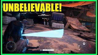 Star Wars Battlefront 2 - Incredible win with Rey! | How did we pull that off!!