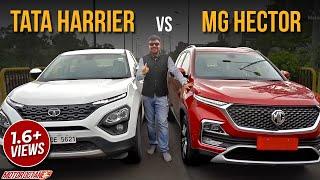 MG Hector vs Tata Harrier Comparison | Hindi | MotorOctane