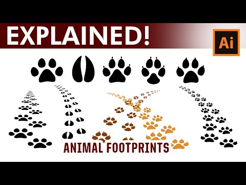 Animal Tracks - How to create your own brushes in Adobe Illustrator