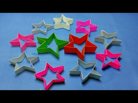 Origami paper stars@How to make an origami star easy tutorial step by step?Paper Stars.