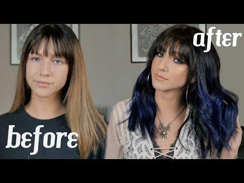 I DYED MY HAIR BLUE!! + FESTIVAL HAIR TUTORIAL